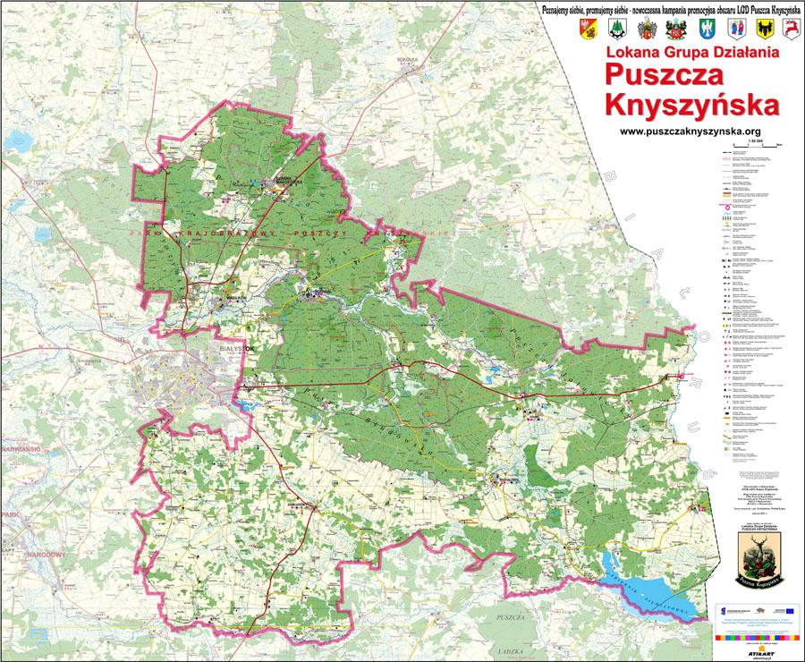 Mapa Puszcza Knyszyńska