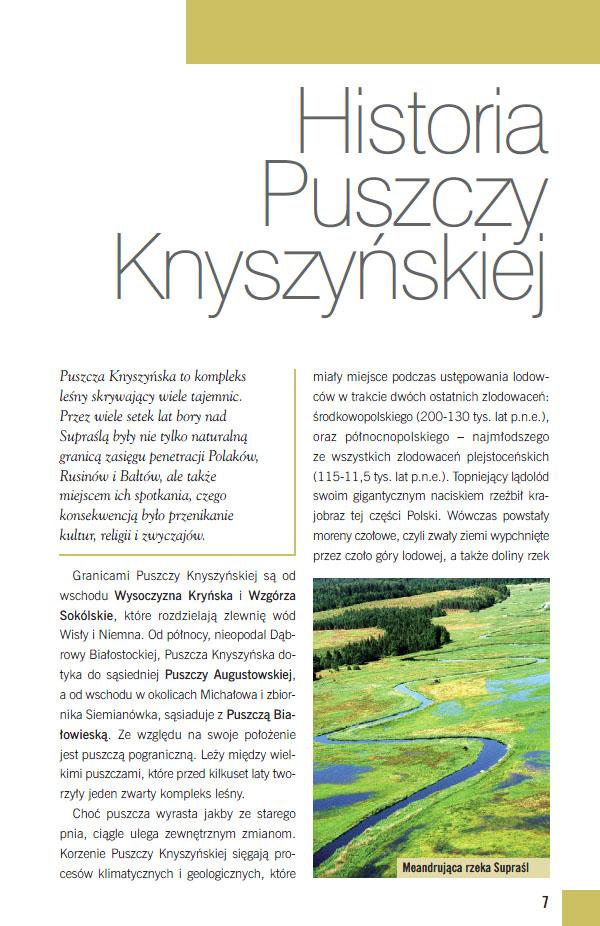 historia Puszczy Knyszyńskiej